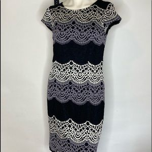 Studio one New York lined &laced dress Sz 12P